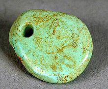 Trade in Turquoise Crafts, such as this Freeform Pendant Dating from 1000–1040 CE, is Believed to have Brought the Ancestral Puebloans of the Chaco Canyon Great Wealth.