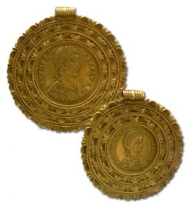 Byzantine Coin Jewelry , 5th Century