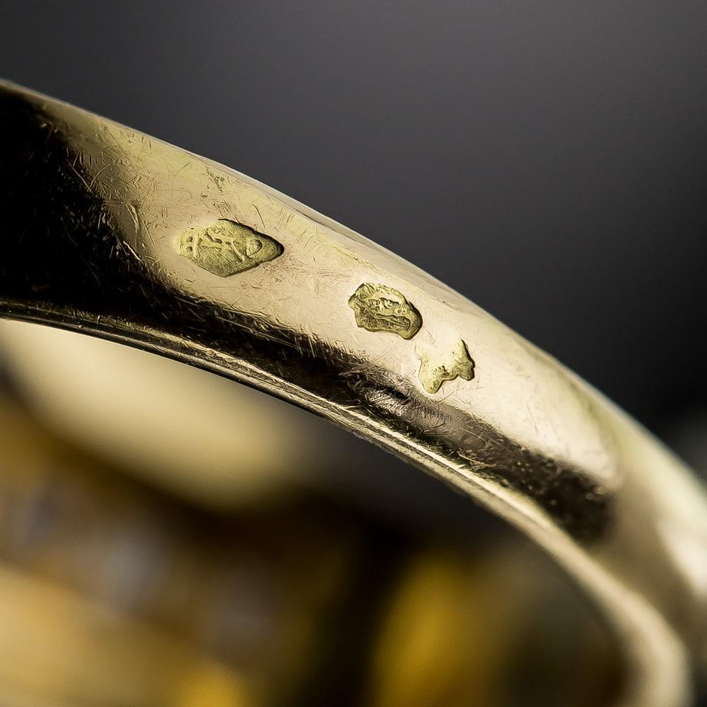 Diamond Silver Anchor Ring