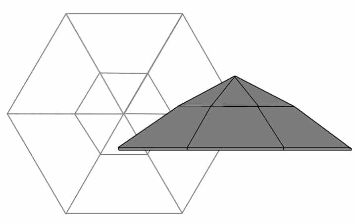 A Twelve-Facet Rose0Cut Diagram.