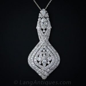 Lacloche Belle Epoque Diamond Pendant Necklace.