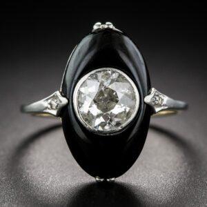Art Deco Diamond and Onyx Ring c.1930s.