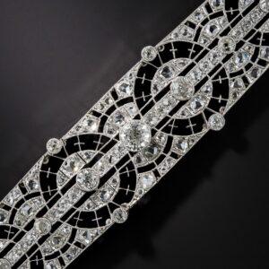 Edwardian Circle Motif Diamond Bracelet.