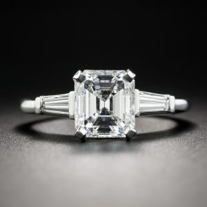Emerald-Cut Diamond Engagement Ring - GIA D VVS1