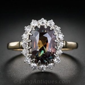 Alexandrite and Diamond Ring.