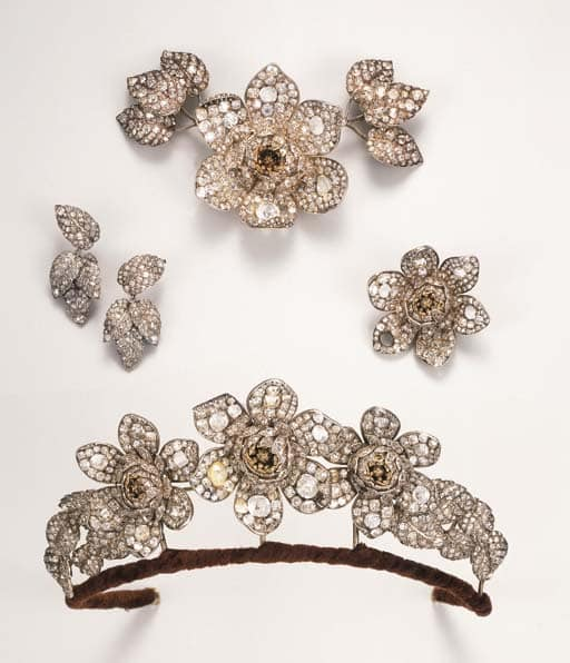 Antique Convertible Diamond Tiara c.1840.
