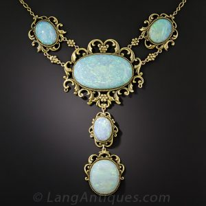 Victorian Opal Necklace.