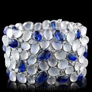 Kyanite and Moonstone Bracelet.