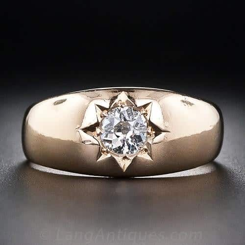 Victorian Star-Set Diamond Ring.