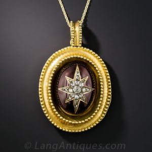 Victorian Garnet and Diamond Pendant.