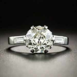 European-Cut Diamond Ring - GIA O/P SI1