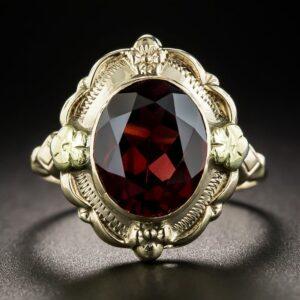 Almandine Garnet Ring.