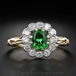 Tsavorite Garnet Ring.