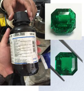 Cedar Oil for Emerald Enhancement - Before and After.