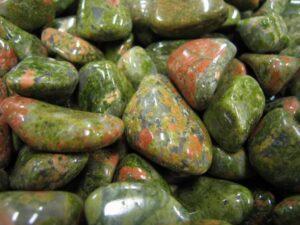 Tumble Polished Unakite Pebbles.