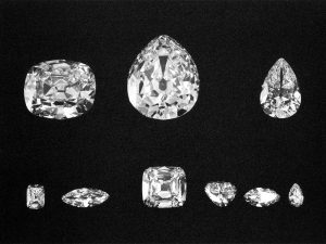 The Nine Most Important Cullinan Diamonds. Top Row: II, I and III. Bottom Row: VI, VIII, IV, V, VII and IX.