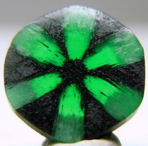 Trapiche Emerald from Muzo Mine, Colombia.