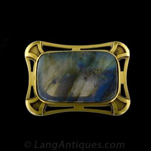 Arts and Crafts Labradorite Brooch.