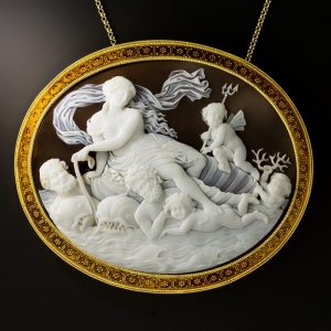 Etruscan Revival Mythological Shell Cameo