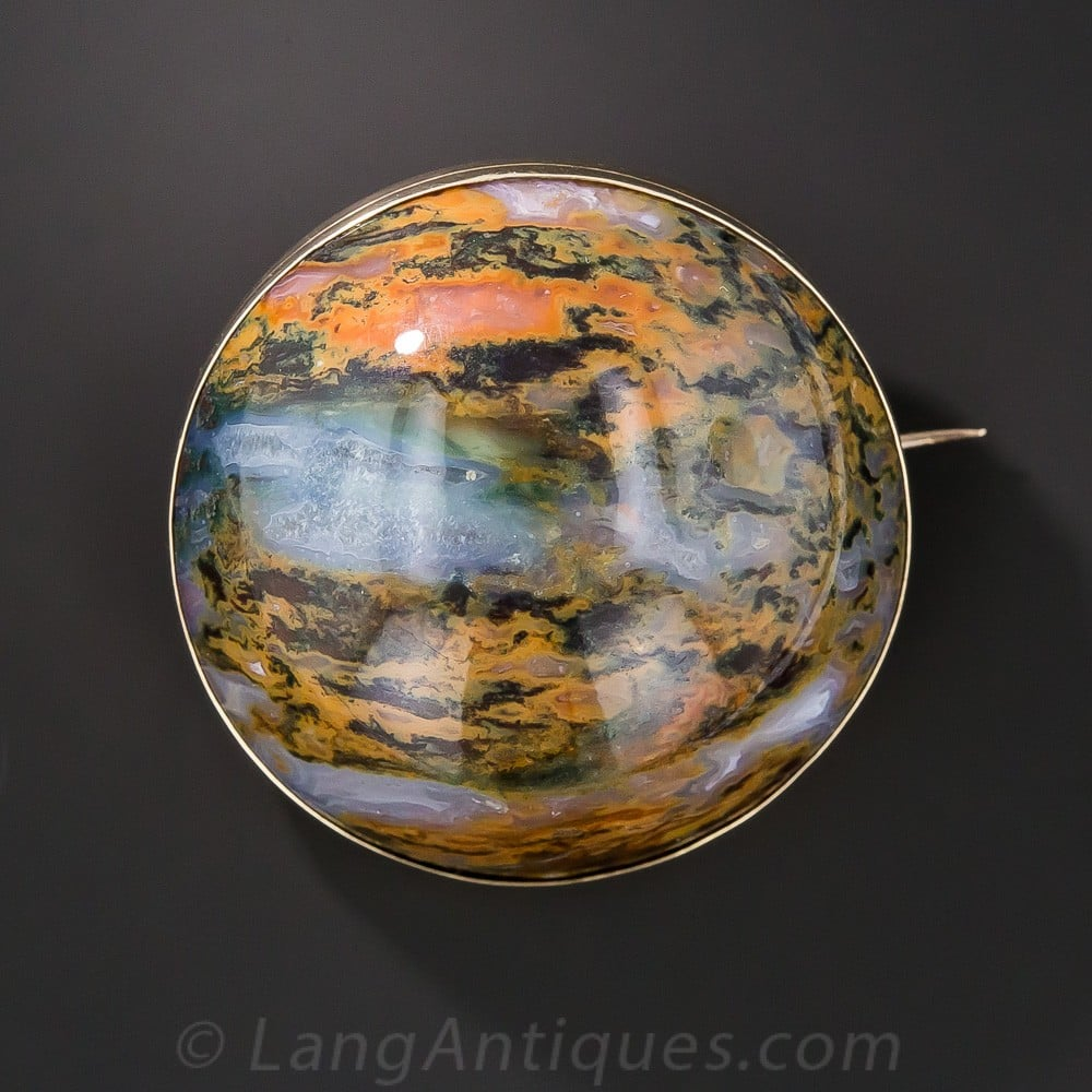 Large Scottish Jasper Brooch