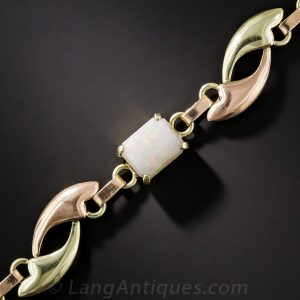 Mid-Century Opal Bracelet.