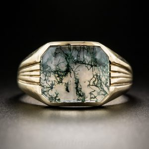 Moss Agate Ring by Allsopp Brothers.