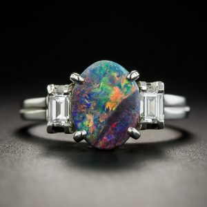 Black Opal Diamond Ring.