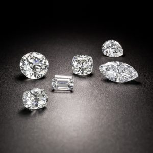 6 Loose Diamonds in Different Cuts.