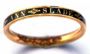 Mourning Ring c.1767. Photo Courtesy of The Colonial Williamsburg Foundation