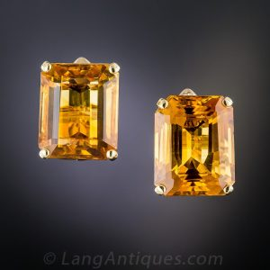 Mid-Century Citrine Earrings.