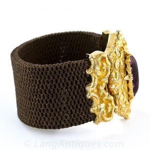 Georgian Woven Hair Bracelet c.1828,