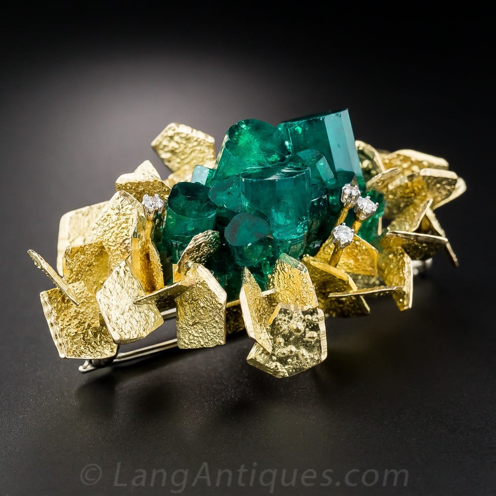 Synthetic Emerald Created by the Renowned Chatham Company, est.1938, San Francisco.