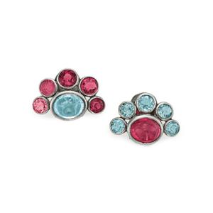 Coco Chanel Tourmaline & Aquamarine Ear Clips.