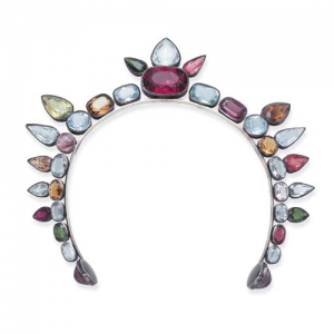 Coco Chanel Art Deco Multli-Stone Tiara.