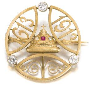 Romanov Tercentenery Brooch, Alma Pihl Designer for Fabergé.