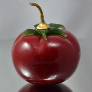 Faberge Purpurin Perfume Bottle - Form Tomato. Image Courtesy of eBay.