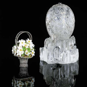 Winter Egg for Dowager Empress Maria Feodorovna, Easter 1913. Alma Pihl, Designer for Fabergé