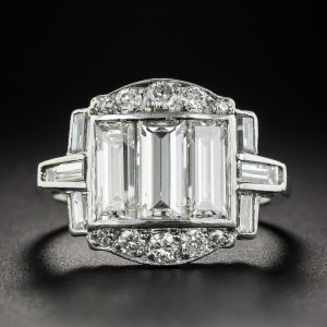Art Deco Baguette Diamond Ring.