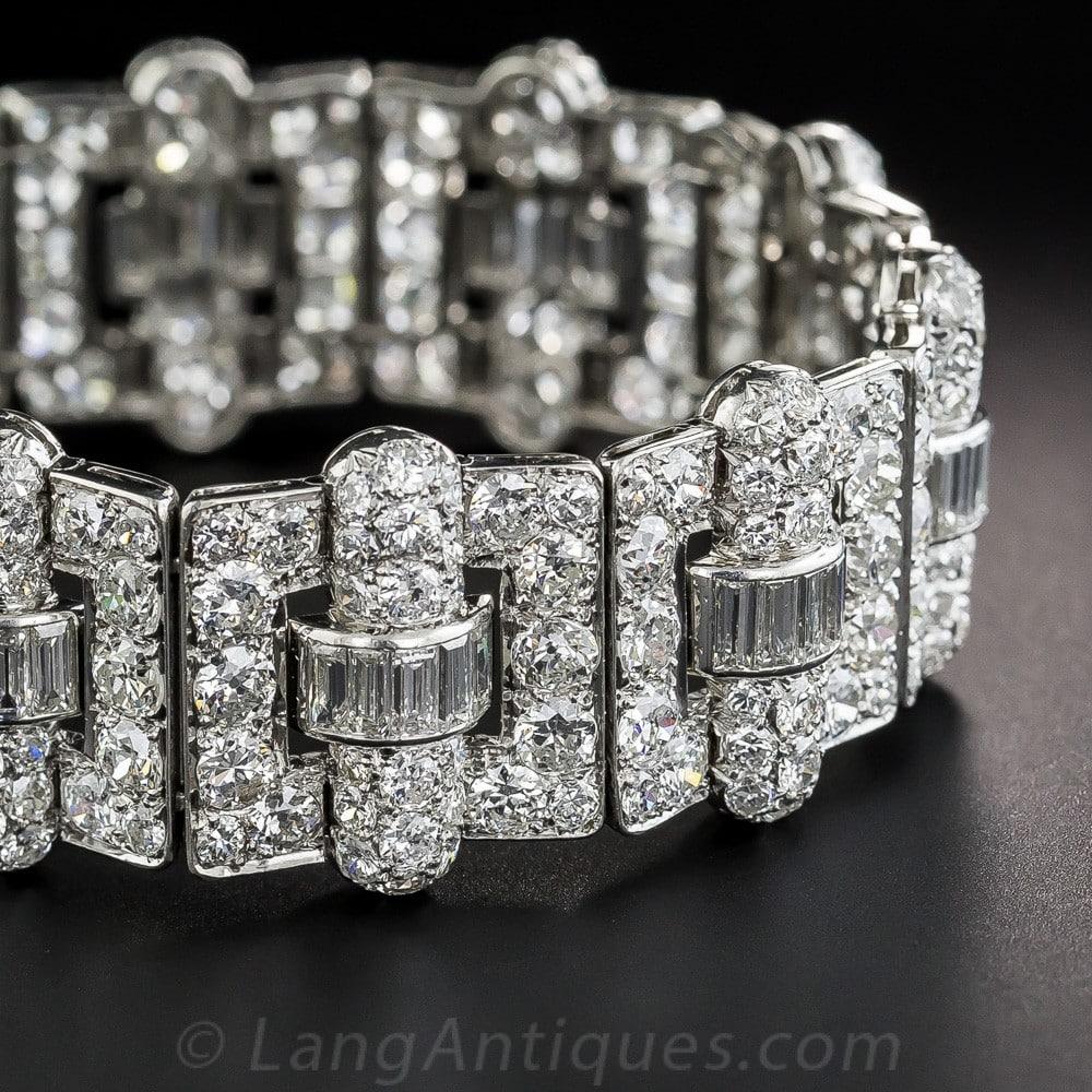 Art Deco Diamond and Platinum Bracelet.