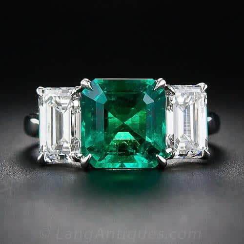 Emerald and Diamond Ring.