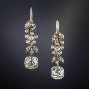 Victorian Diamond Drop Earrings.