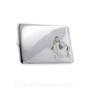 Bright Silver Art Deco Cigarette Case
