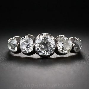 Georgian Five Stone Diamond Ring.
