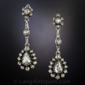 Georgian Rose-Cut Diamond Earrings.