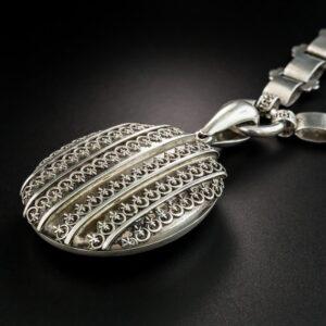Victorian Fine Silver Locket