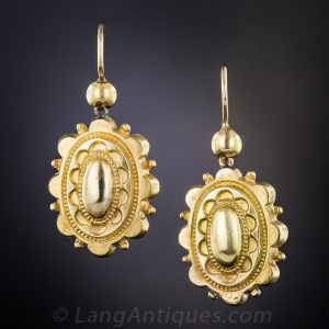 Victorian Electroformed Yellow Gold Earrings
