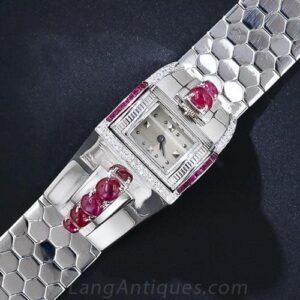 Rhodium Plated Retro Bracelet Watch
