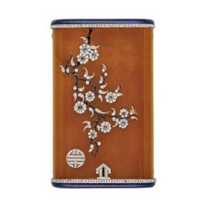 Art Deco Amber, Lapis Lazuli and Diamond Case