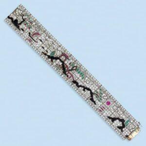 Art Deco Diamond, Gem-Set Bracelet.