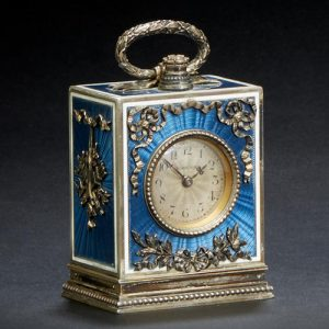 Belle Epoque Enameled Miniature Timepiece.